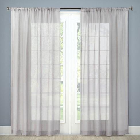 Sheer Curtain Panel Gray 54 X84 Threshold