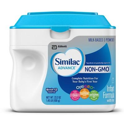 Similac Advance Non-GMO Infant Formula Powder - 1.45lb