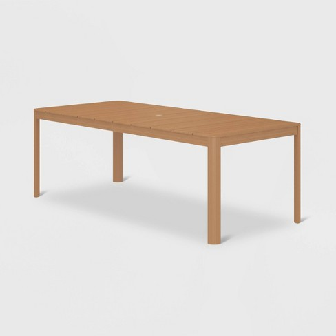 Cosco Aluminum and Synthetic Wood Patio Dining Table - Tan - image 1 of 4