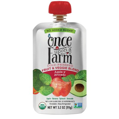 Once Upon a Farm Organic Apple-y Avocado Fruit & Veggie Blend - 3.2oz