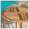 Coronado 3pc Acacia Wood Patio Bistro Set with Cushions - Teak Finish - Christopher Knight Home - image 4 of 4