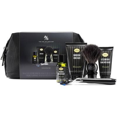 The Art Of Shaving Men's Unscented Shaving Kit with 5 Bladed Morris Park Razor - Trial Size