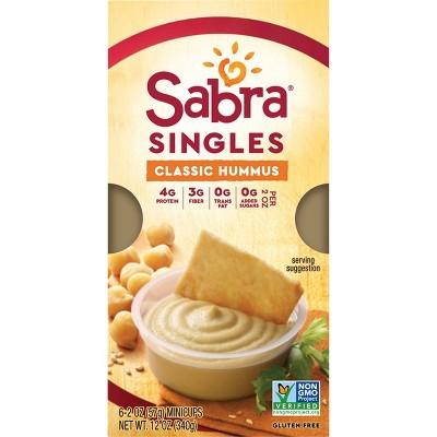 Sabra Classic Hummus Singles - 12oz/6ct