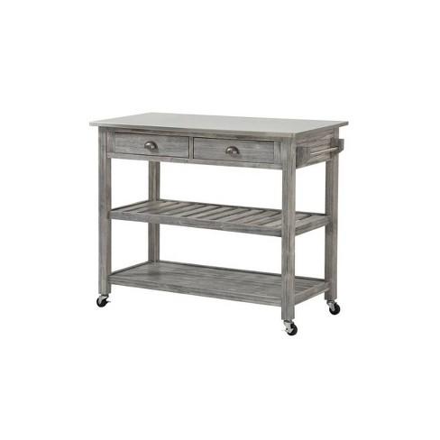 Sonoma Kitchen Cart Gray - Boraam