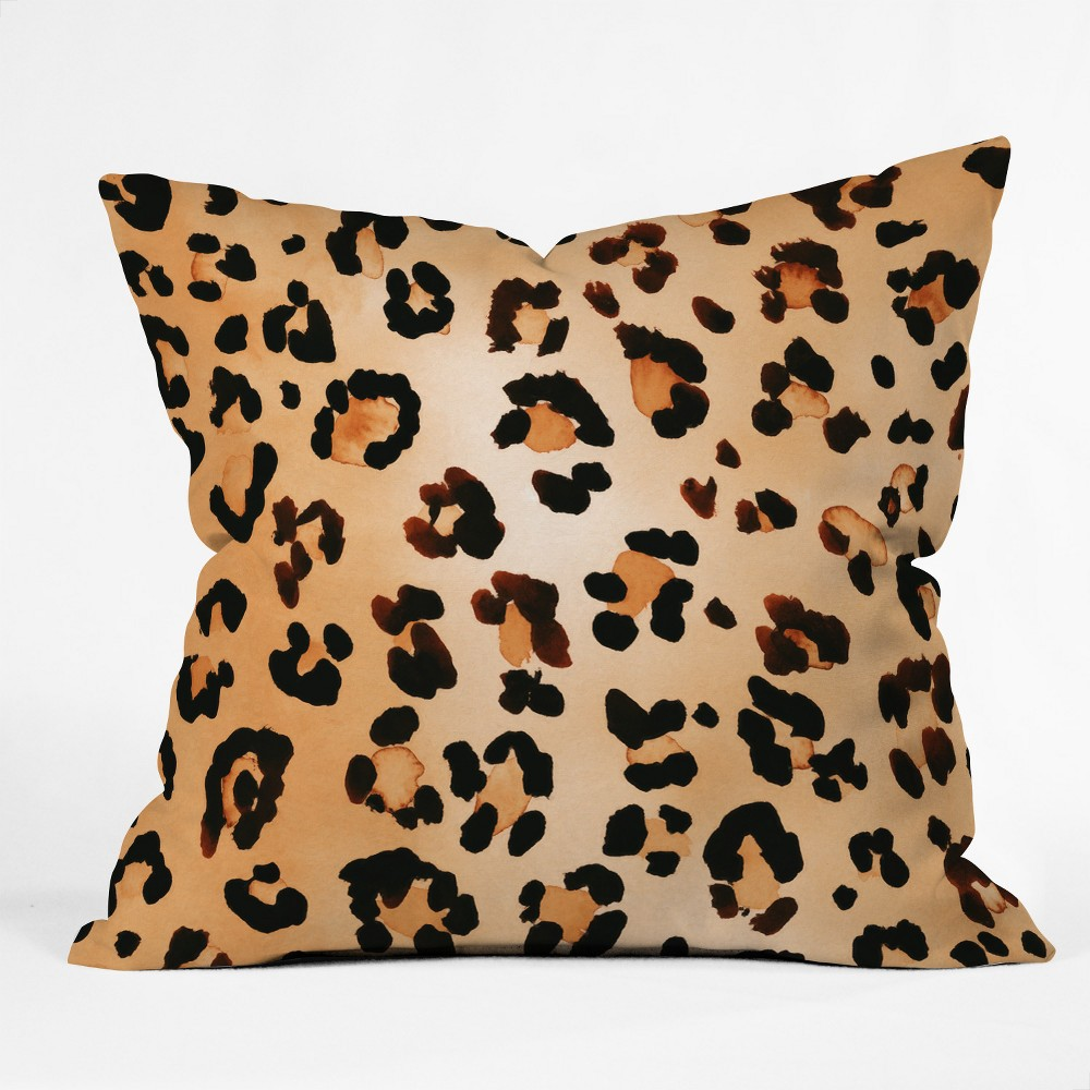 Amy Sia Animal Leopard Brown Throw Pillow Brown Deny Designs