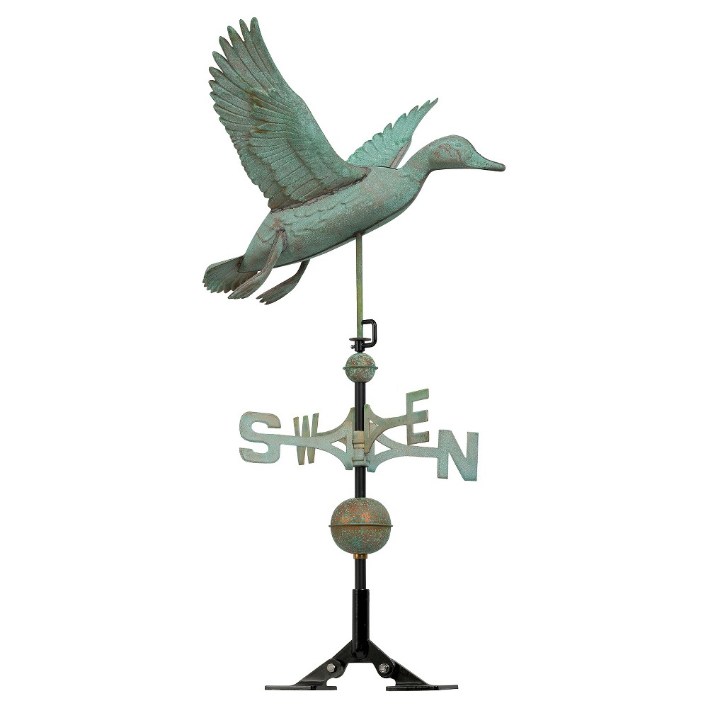 "Image of ""24"""" Duck Weathervane - Copper Verdigris - Whitehall Products, Brown"""
