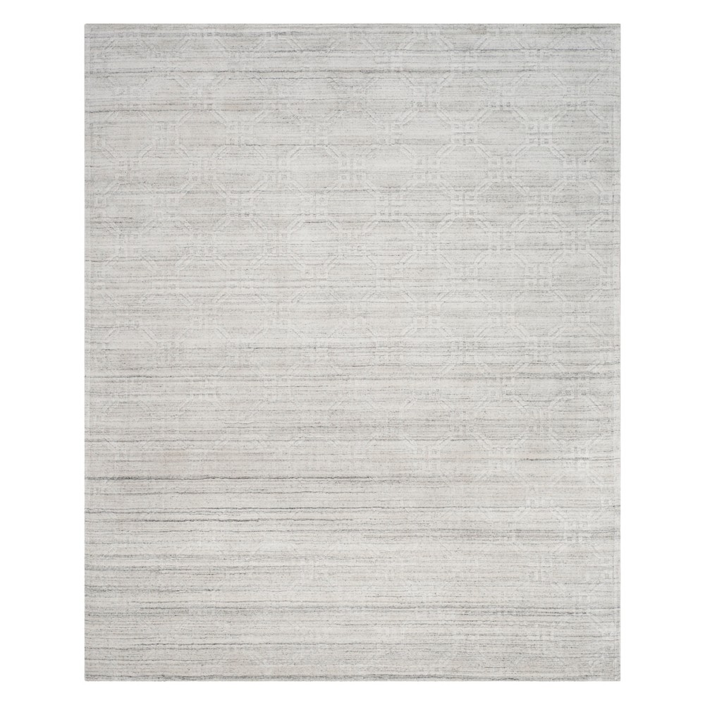 9'X12' Geometric Knotted Area Rug Light Gray - Safavieh