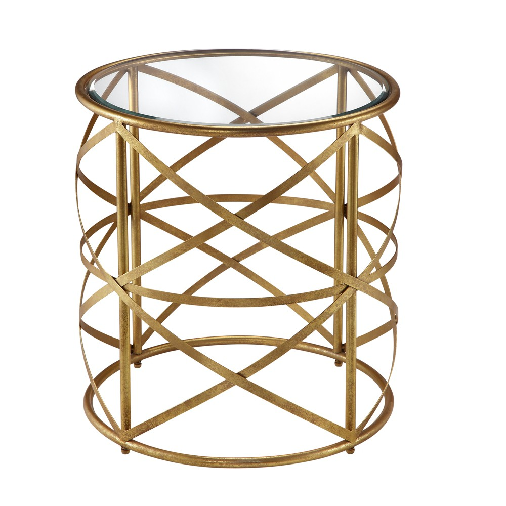 Rue End Table - Gold, Accent Tables