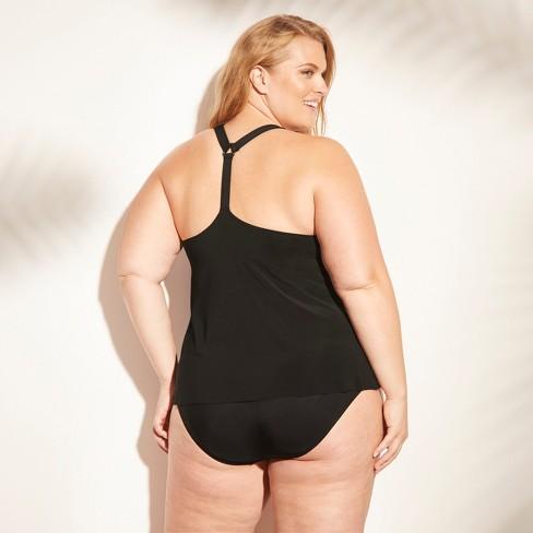420f7f4674 Women's Plus Size Halter Tankini Top - Aqua Green® Tribal Print : Target