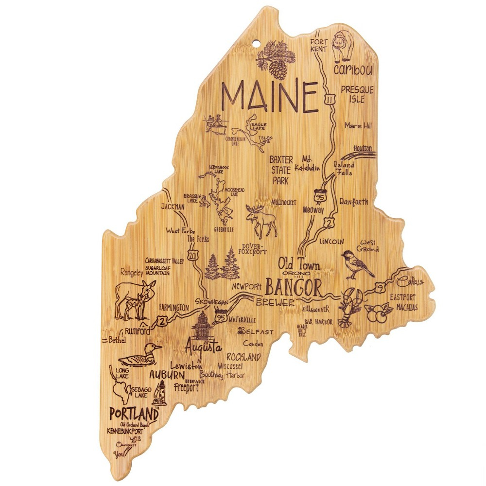 Discounts Totally Bamboo Destination Maine Serving and Cutting Board