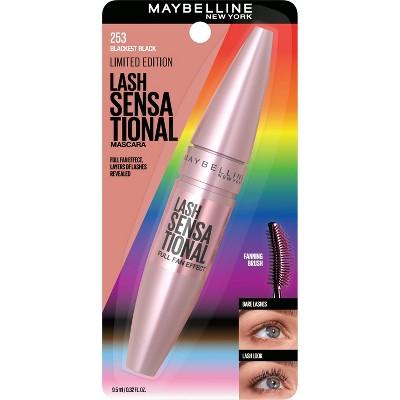 Maybelline Lash Sensational Limited Edition Pride Washable Mascara - Blackest Black - 0.32 fl oz