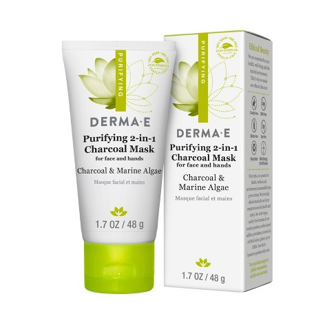 DERMA E Purifying 2-1 Charcoal Face Mask - 1.7oz - image 1 of 2
