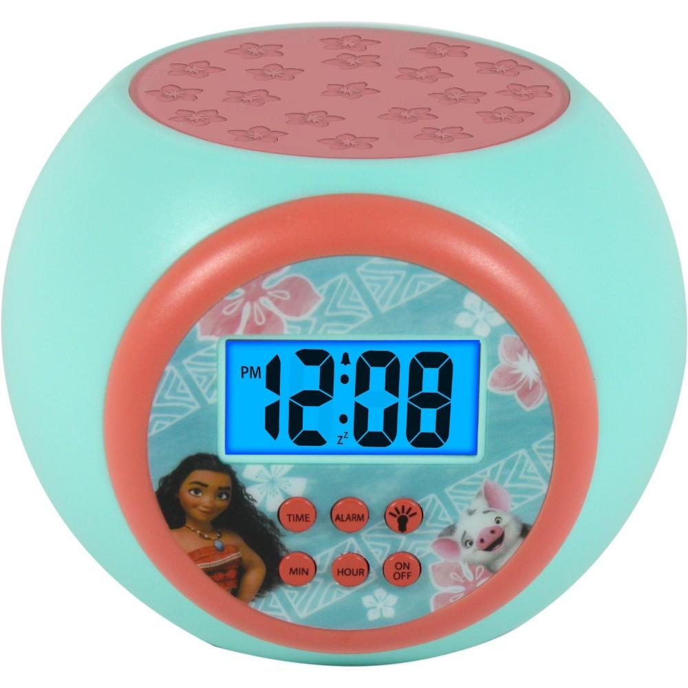 Moana Lcd Projecting Alarm Clock, Blue