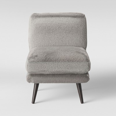 Harper Faux Fur Slipper Chair Gray - Project 62™