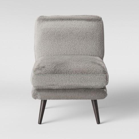Enjoyable Harper Faux Fur Slipper Chair Gray Project 62 Alphanode Cool Chair Designs And Ideas Alphanodeonline