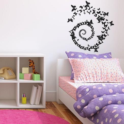 wall decal - butterfly swirl : target