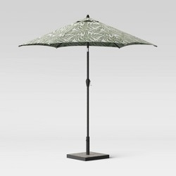 9' Round Patio Umbrella - Black Pole - Threshold™