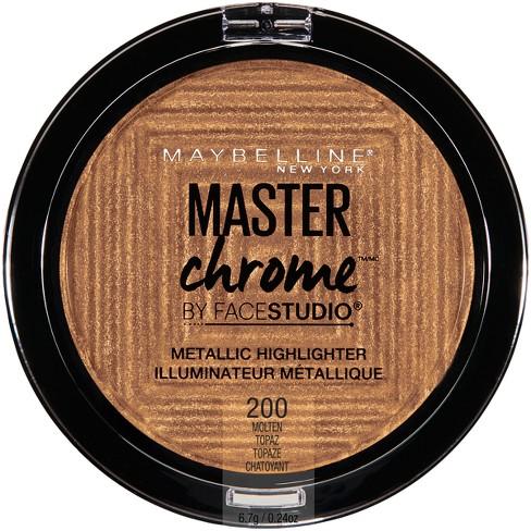 Maybelline Facestudio Master Chrome Metallic Highlighter 200 Molten Topaz - 0.24oz - image 1 of 8