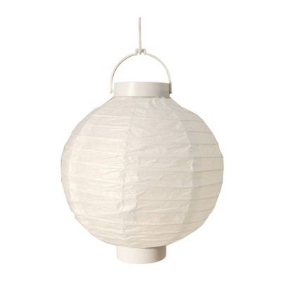 3ct White Battery Operated Paper Lantern