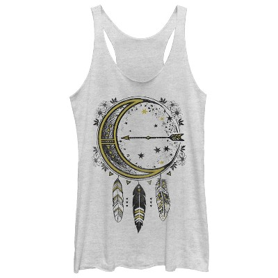 Women's CHIN UP Moon Dreamcatcher Racerback Tank Top
