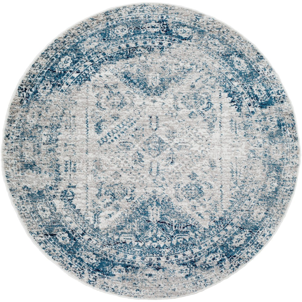 5 39 3 34 Round Melissa Traditional Rugs Blue Artistic Weavers