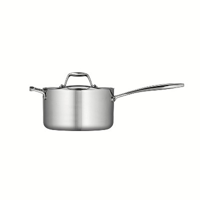 Tramontina Gourmet Tri-Ply Clad 2qt Sauce Pan with Lid Silver