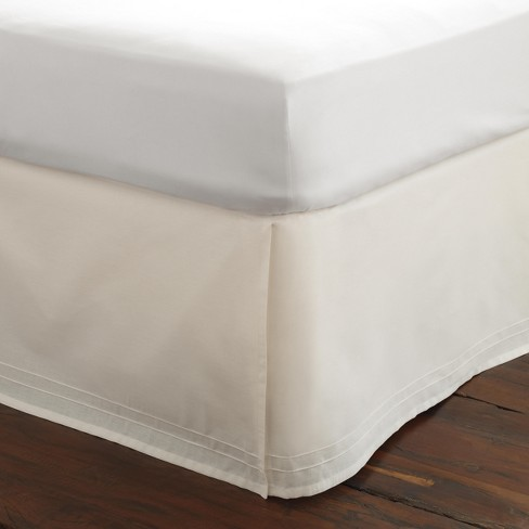 Solid Tailored Bedskirt White - Laura Ashley - image 1 of 2