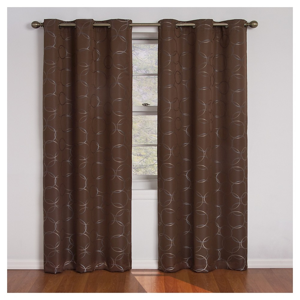 Eclipse Thermaback Meridian Blackout Curtain Panel - Chocolate (Brown) (42