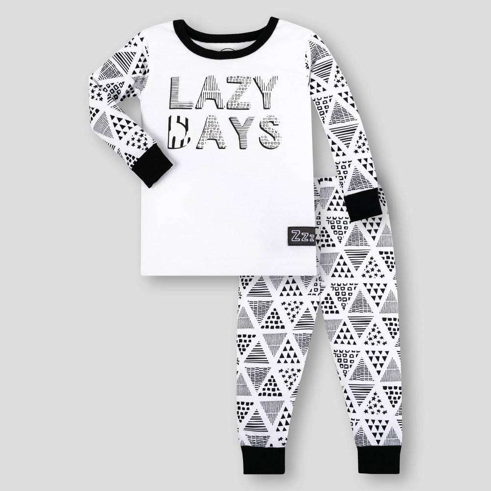 Lamaze Toddler Boys 39 Organic Cotton Pajama Set White Black 18m