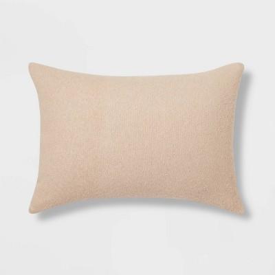 Oblong Boucle Color Blocked Decorative Throw Pillow Khaki - Threshold™