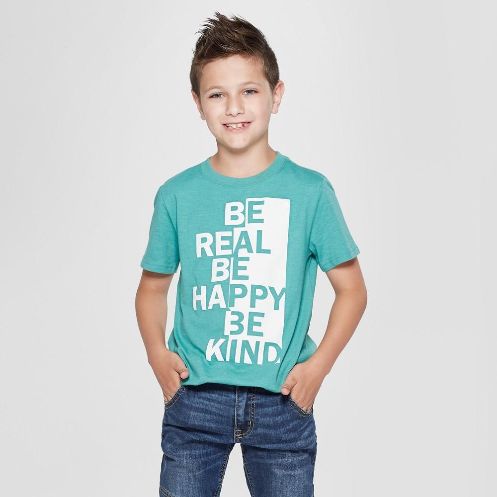 Boys' Short Sleeve Graphic T-Shirt - Cat & Jack Green XS