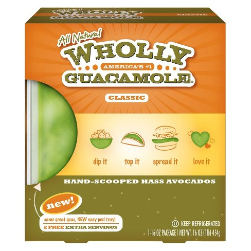Wholly Guacamole® All Natural Hand Scooped Hass Avocados - 16oz - image 1 of 1