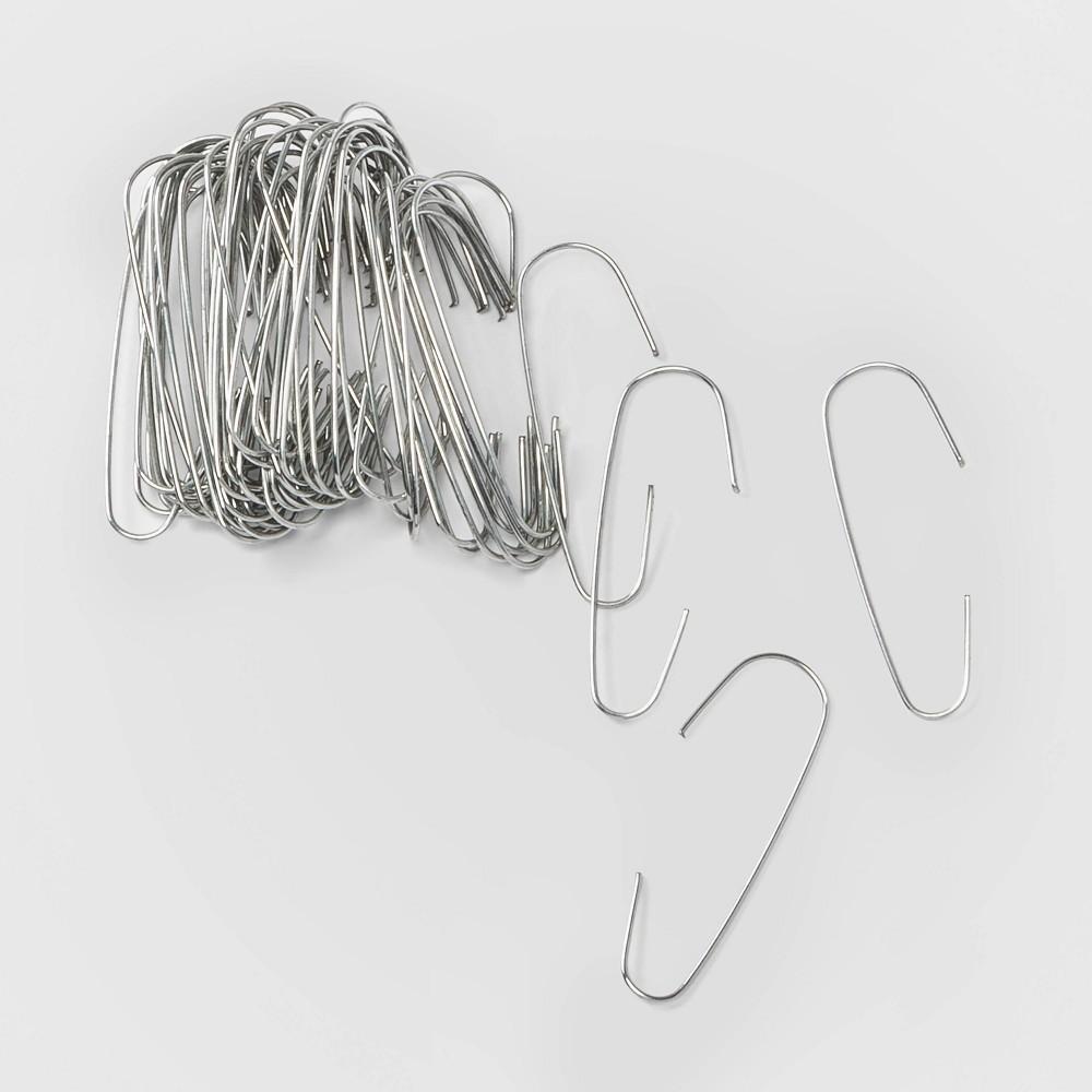 Image of 200ct Christmas Ornament Hooks Silver - Wondershop