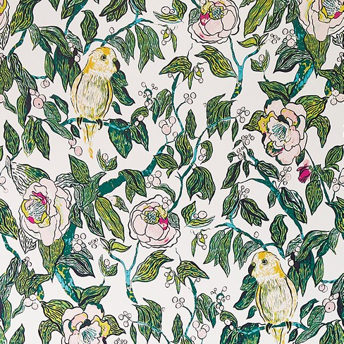 Canary Floral Peel Stick Wallpaper Opalhouse Target