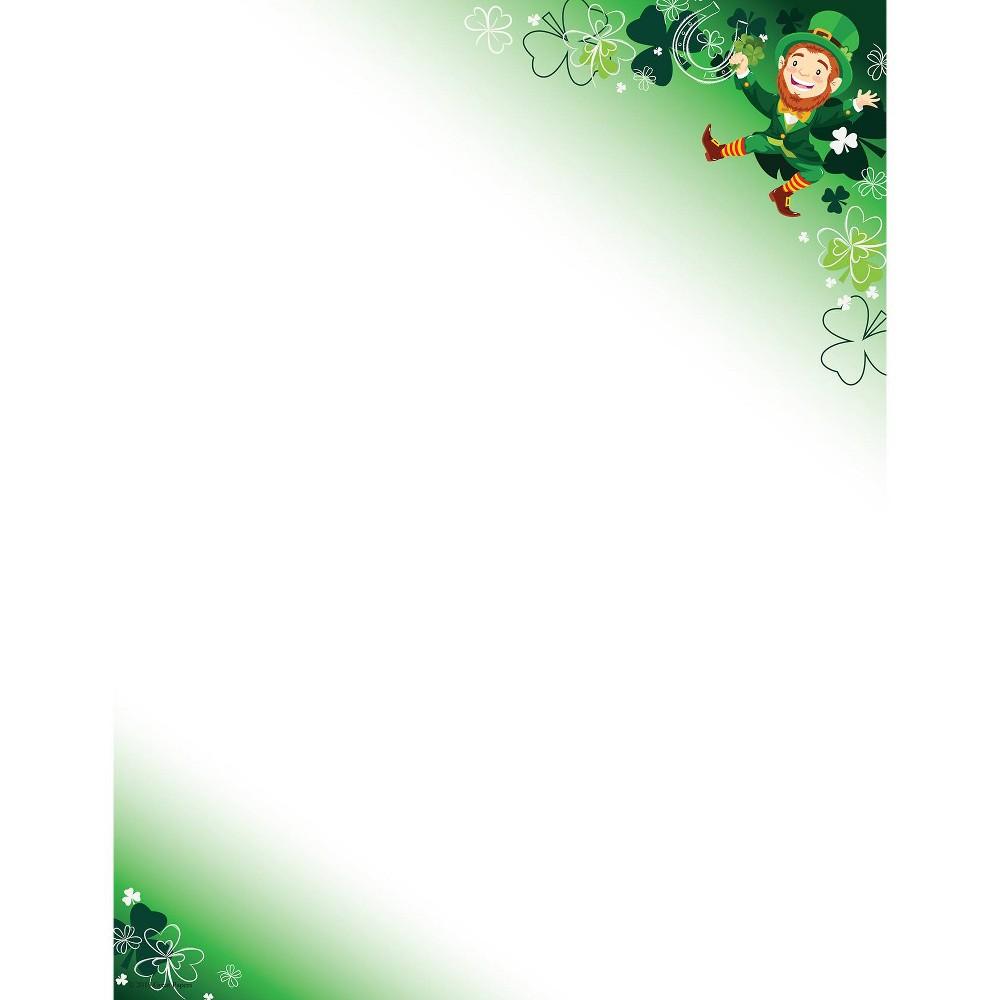 Image of 80ct Happy Leprechaun Letterhead White