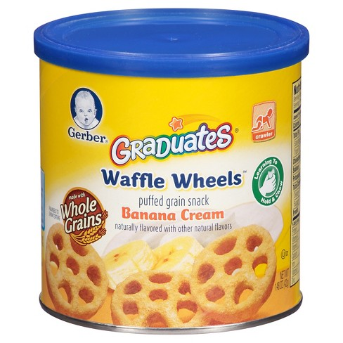 Gerber Waffle Wheels Banana Cream - 1.48oz - image 1 of 5