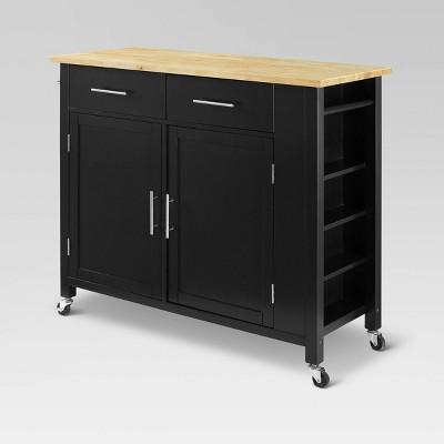 Full Savannah Wood Top Kitchen Island Cart - Crosley