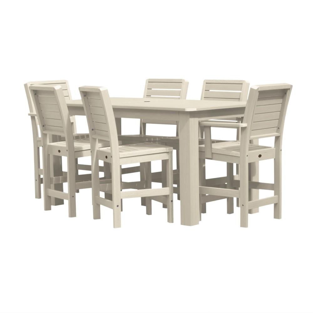 Weatherly 7pc Rectangular Counter Dining Set Whitewash - Highwood, Off White