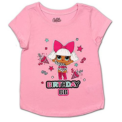 LOL Surprise Girl's Birthday BB Short Sleeve Graphic Party Shirt For Kids