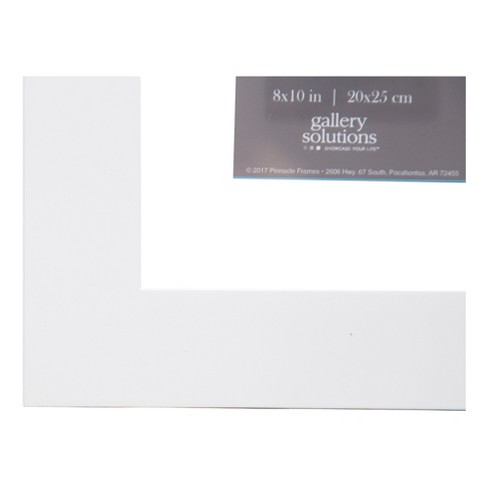 Single Image 8X10 Float To 5X7 Wide White Frame - Gallery Solutions ...