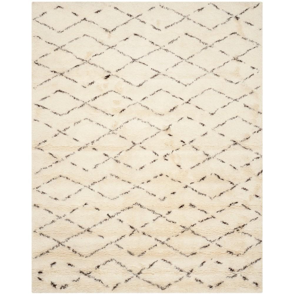 11'X15' Geometric Tufted Area Rug Ivory/Brown - Safavieh