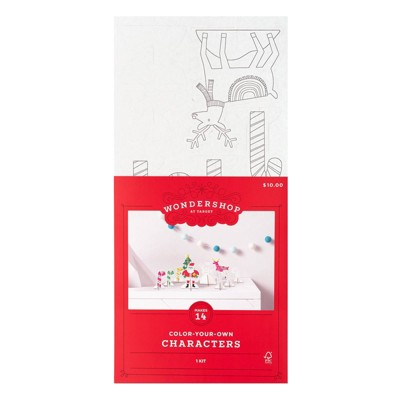 Color-Your-Own Corrugate Holiday Characters Kit - Wondershop™