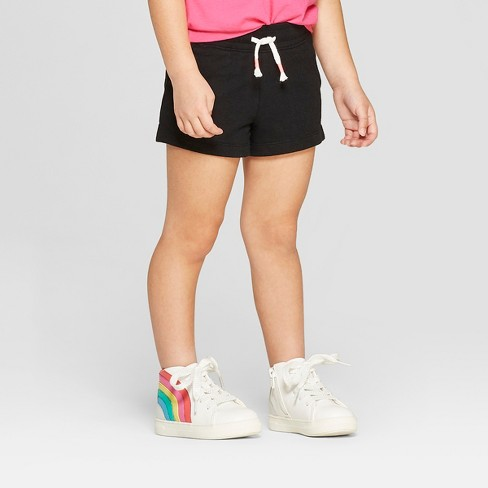 Toddler Girls' Straight Pull-On Shorts - Cat & Jack™ Black - image 1 of 3
