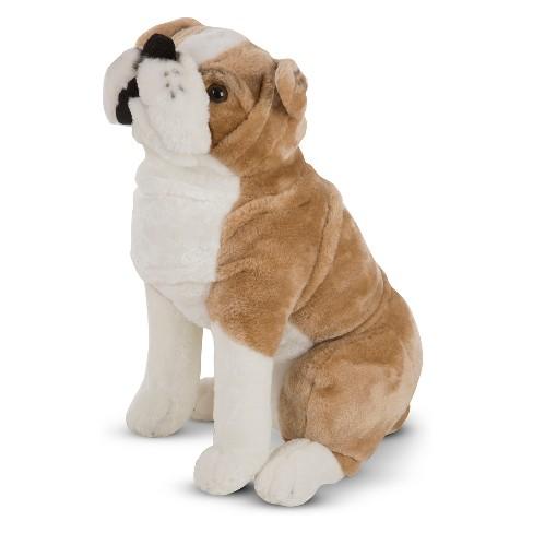 Melissa Doug Giant English Bulldog Lifelike Stuffed Animal