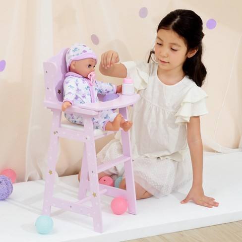 Olivia S Little World Le Stars Princess Baby Doll High Chair Target