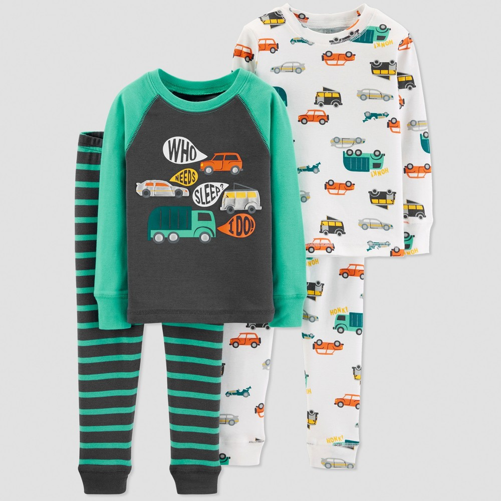 Toddler Boys' 4pc Transportation Pajama Set - Just One You made by carter's Blue 5T