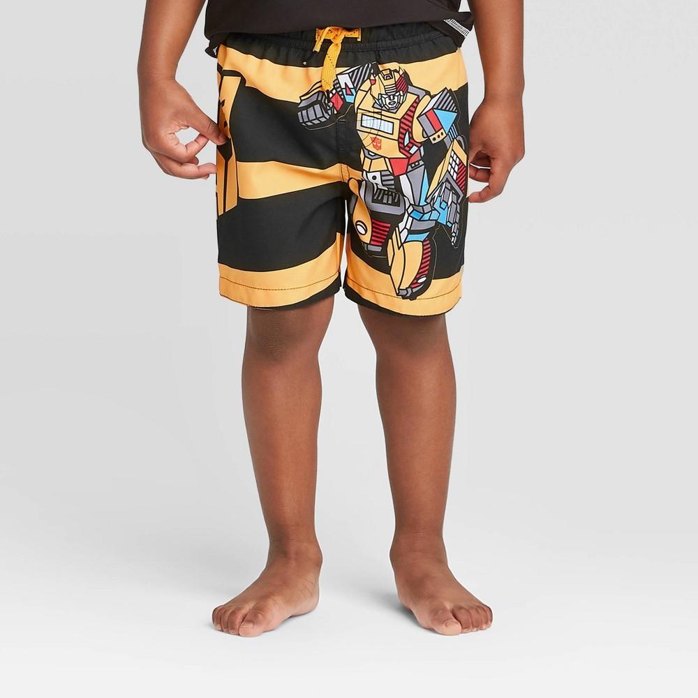 Image of Toddler Boys' Transformers Swim Trunks - Yellow 2T, Boy's