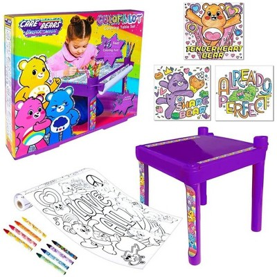 Fashion Angels Care Bears Coloring Table Set