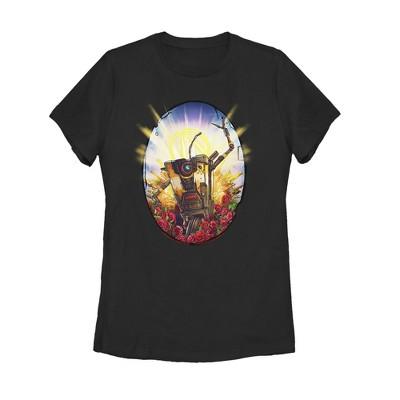 Women's Borderlands 3 Floral Claptrap Robot T-Shirt