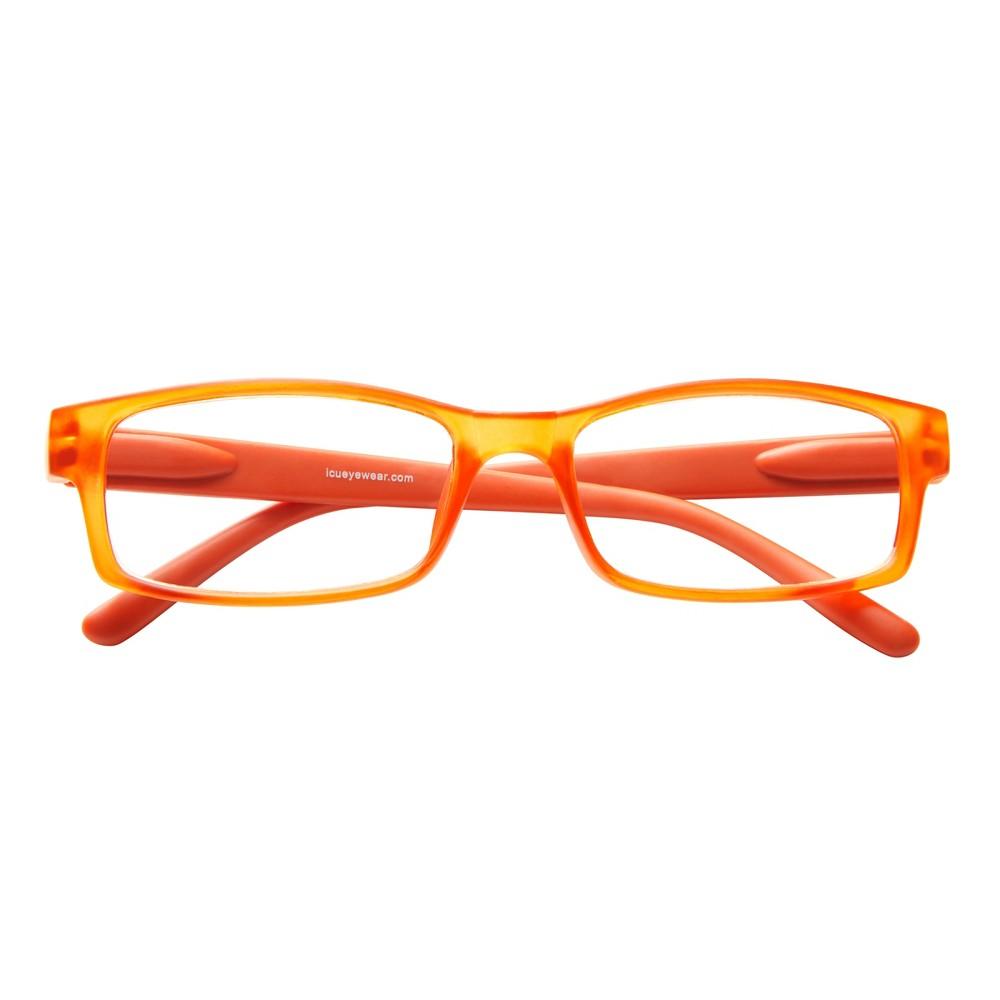 Los Angeles Reading Glasses - Mod. Rect. Org. +3.00, Orange
